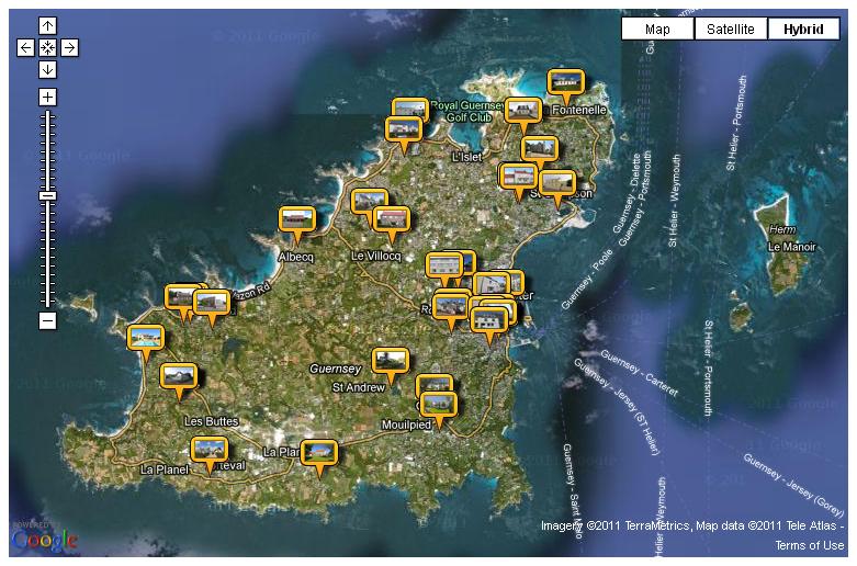Google maps Mashup for Property in Guernsey Freelance Web
