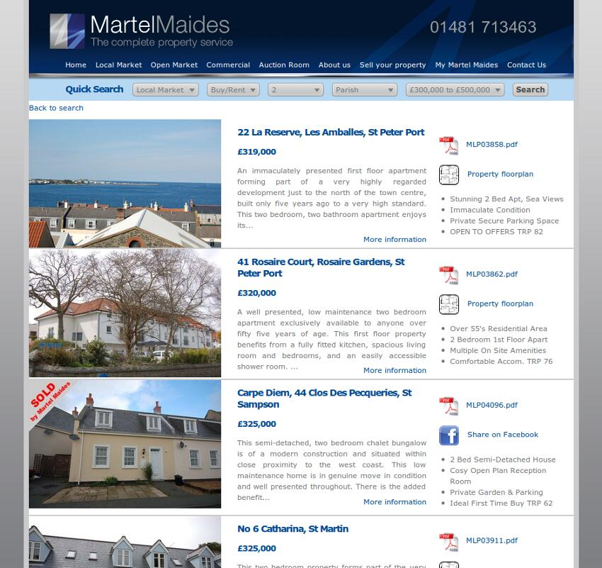 Martel Maides Property Listings
